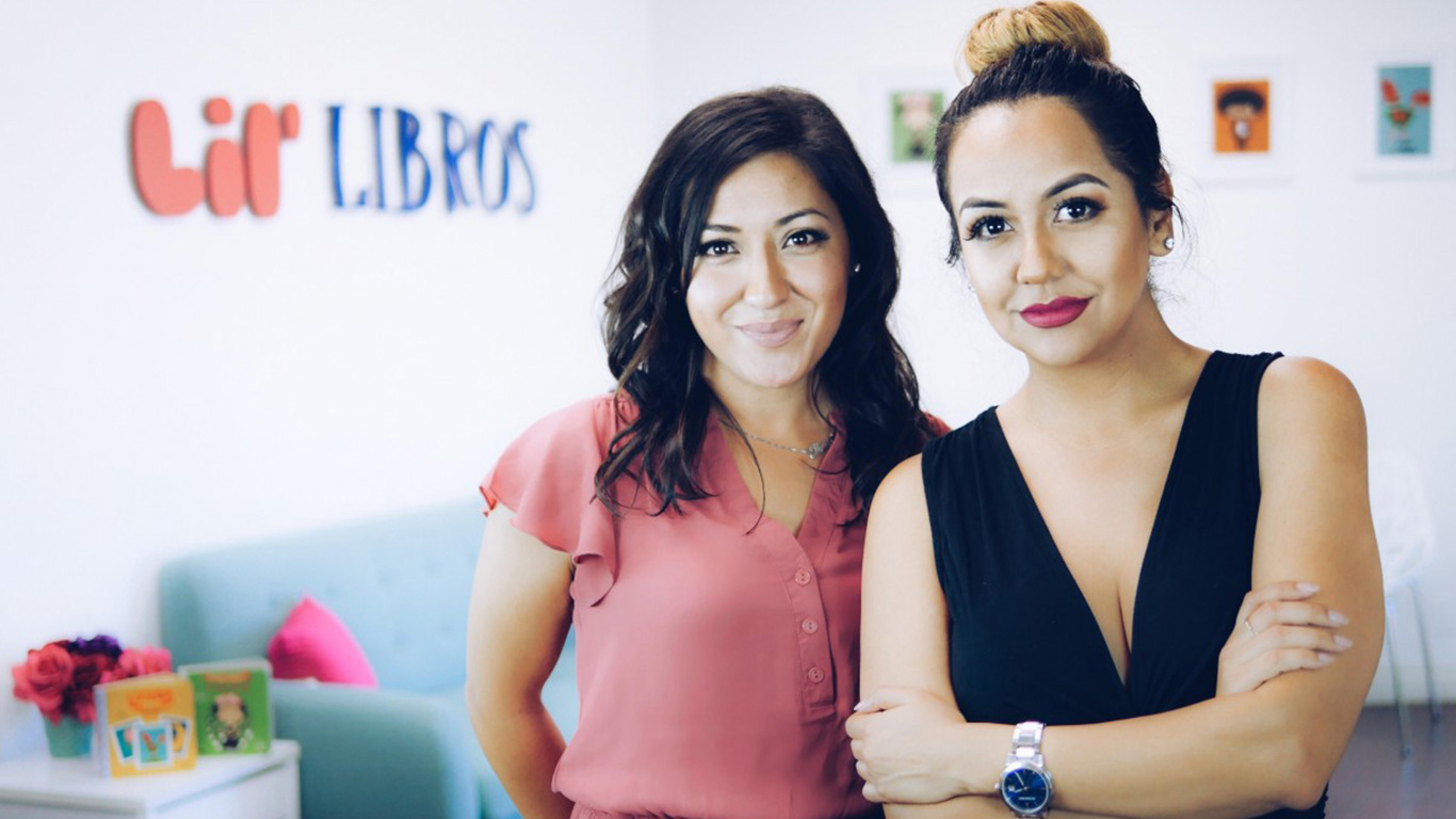 Ariana Stein (left) and Patty Rodriguez, founders of Lil' Libros children books.